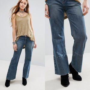 Free People Hopkin Wide Leg Cropped Flare Jeans